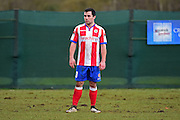 Dorking Wanderers Matt Briggs scouted during the Ryman League - Div One South match between Dorking Wanderers and Lewes FC at Westhumble Playing Fields, Dorking, United Kingdom on 28 January 2017. Photo by Jon Bromley.