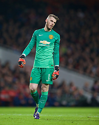 LONDON, ENGLAND - Saturday, November 22, 2014: Manchester United's goalkeeper David de Gea in action against Arsenal during the Premier League match at the Emirates Stadium. (Pic by David Rawcliffe/Propaganda)