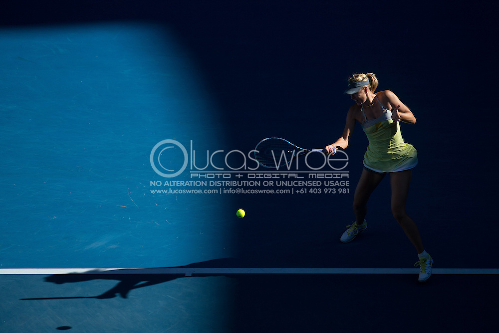 Maria Sharapova (RUS). Day 8. Round 4. Melbourne Olympic Park, Melbourne, Victoria, Australia. 22/01/2013. Photo By Lucas Wroe
