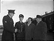 Passing Out Parade of new Gardai at Phoenix Park- 12 New Ban Gardai. 04/12/1959