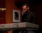 Donte Ames on the keys at Jimmy Maks