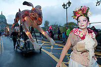 "27/10/2013 Galway was spooked and scared last night as the Macnas parade, ""On the Night Journey"" thrilled thousands in Galway city . Photograph: Andrew Downes ."