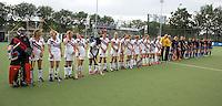 UTRECHT - Line Up  tijdens de finale Veteranen hoofdklasse A dames tussen Kampong en Amsterdam. Kampong wint na shoot out. COPYRIGHT KOEN SUYK