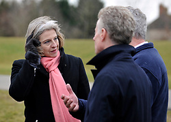 © Licensed to London News Pictures. 27/02/2012, Windsor, UK. Home Secretary Theresa May visits Eton College Rowing Centre in Windsor today 27 february 2012 to see the preparations being made ahead of the London Olympic and Paralympic Games. Photo credit : Stephen Simpson/LNP