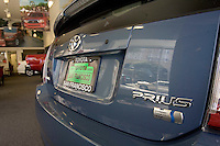 SAN FRANCISCO - SEPTEMBER 1: A Toyota dealership and the Prius hybrid cars on September 1, 2005 in San Francisco, California. WIth gas prices rising and tax incentives motorists are starting to turn to alternative means to fuel their vehicles.  (Photograph by David Paul Morris)