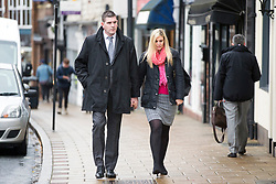 © Licensed to London News Pictures. 21/11/2017. Wakefield, UK. Daniel Poole (nephew of Ann Maguire) arrives at Wakefield Coroners Court this morning for the seventh & final day of the Ann Maguire inquest. Mrs Maguire, a 61 year old Spanish teacher, was stabbed to death by Will Cornick at Corpus Christi Catholic College in Leeds in April 2014. The school pupil, who was 15 at the time, admitted murdering Mrs Maguire and was given a life sentence later that year. Since then, some of Mrs Maguire's family have campaigned for further investigation into her death as they believe more could have been done to prevent the tragedy. Photo credit: Andrew McCaren/LNP
