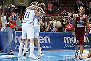 DESCRIZIONE : Riga Latvia Lettonia Eurobasket Women 2009 Semifinal 5th-8th Place Italia Lettonia Italy Latvia<br /> GIOCATORE : Katherin Ress Simona Ballardini Laura Macchi<br /> SQUADRA : Italia Italy<br /> EVENTO : Eurobasket Women 2009 Campionati Europei Donne 2009 <br /> GARA : Italia Lettonia Italy Latvia<br /> DATA : 19/06/2009 <br /> CATEGORIA : esultanza<br /> SPORT : Pallacanestro <br /> AUTORE : Agenzia Ciamillo-Castoria/E.Castoria<br /> Galleria : Eurobasket Women 2009 <br /> Fotonotizia : Riga Latvia Lettonia Eurobasket Women 2009 Semifinal 5th-8th Place Italia Lettonia Italy Latvia<br /> Predefinita :