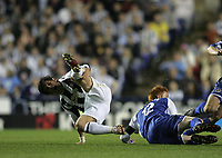 Photo: Lee Earle.<br /> Reading v Newcastle United. The Barclays Premiership. 30/04/2007.Newcastle's Emre (L) goes down in pain with an injury that resulted in the player leaving the pitch.