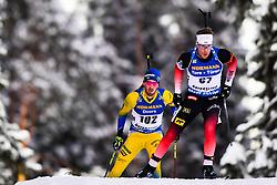 March 9, 2019 - –Stersund, Sweden - 190309 Erlend Bjøntegaard of Norway and Fredrik Lindström of Sweden competes in the Men's 10 KM sprint during the IBU World Championships Biathlon on March 9, 2019 in Östersund..Photo: Petter Arvidson / BILDBYRÃ…N / kod PA / 92252 (Credit Image: © Petter Arvidson/Bildbyran via ZUMA Press)