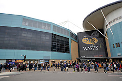 A general view of the Ricoh Arena, Wasps' new home ground, prior to their match against London Irish - Photo mandatory by-line: Patrick Khachfe/JMP - Mobile: 07966 386802 21/12/2014 - SPORT - RUGBY UNION - Coventry - Ricoh Arena - Wasps v London Irish - Aviva Premiership