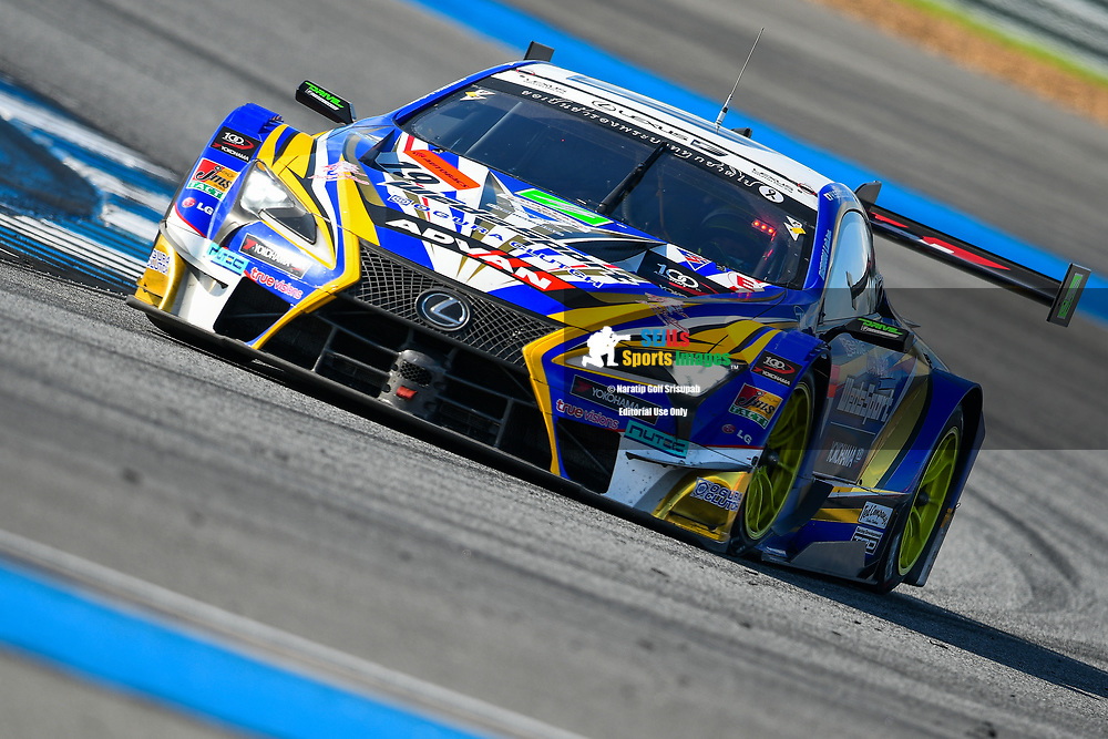 BURIRAM, THAILAND - OCTOBER 08: GT-500 car #19 Lexus WedsSport ADVAN LC500 of Yuhi Sekiguchi / Yuji Kunimoto in Turn 9 during the 2017 AUTOBACS SUPER GT Round7 Chang SUPER GT RACE , Chang International Circuit, Buriram, Thailand on October 08, 2017.<br /> .<br /> .<br /> .<br /> (Photo by: Naratip Golf Srisupab/SEALs Sports Images)<br /> .<br /> Any image use must include a mandatory credit line adjacent to the content which should read: Naratip Golf Srisupab/SEALs Sports Images