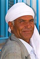 Man in outside cafe, Skhira, Tunisia