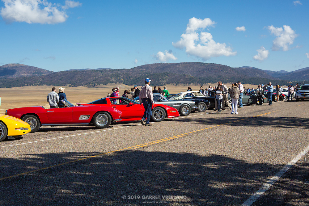 Once again, it's time for drivers, families, friends and spectators to mix and mingle with the automobiles. At the Valles Caldera on the 2012 Santa Fe Concorso High Mountain Tour.