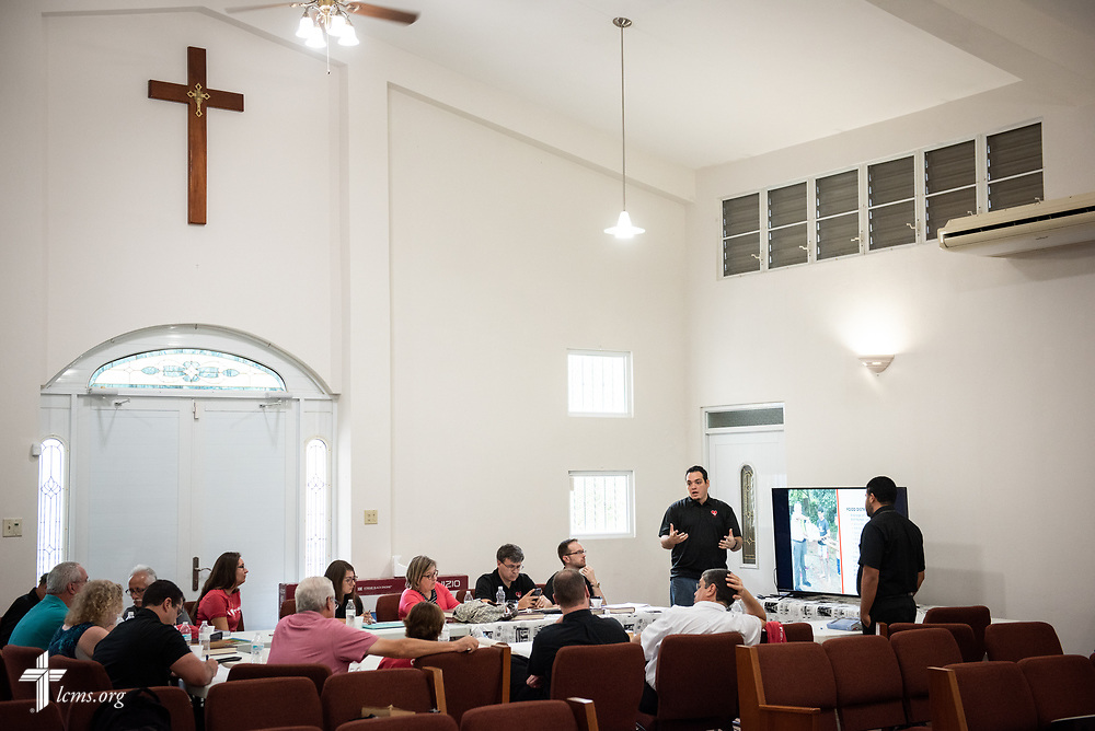 Foro members meet at Iglesia Luterana Principe de Paz (Prince of Peace Lutheran Church), Mayagüez, Puerto Rico, on Monday, April 16, 2018. LCMS Communications/Erik M. Lunsford