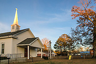 French Camp Baptist Church is located across from the Visitor's Center. (Photo by Carmen K. Sisson/Cloudybright)