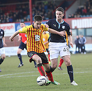 Partick Thistle's Aaron Muirhead and Dundee's Stephen McGinn - Dundee v Partick Thistle, SPFL Premiership at Dens Park<br /> <br />  - &copy; David Young - www.davidyoungphoto.co.uk - email: davidyoungphoto@gmail.com