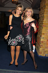 Left to right, news reader EMILY MAITLIS and opera singer LESLEY GARRETT at the 2005 Whitbread Book Awards 2005 held at The Brewery, Chiswell Street, London EC1 on 24th January 2006. The winner of the 2005 Book of the Year was Hilary Spurling for her biography 'Matisse the Master'.<br />