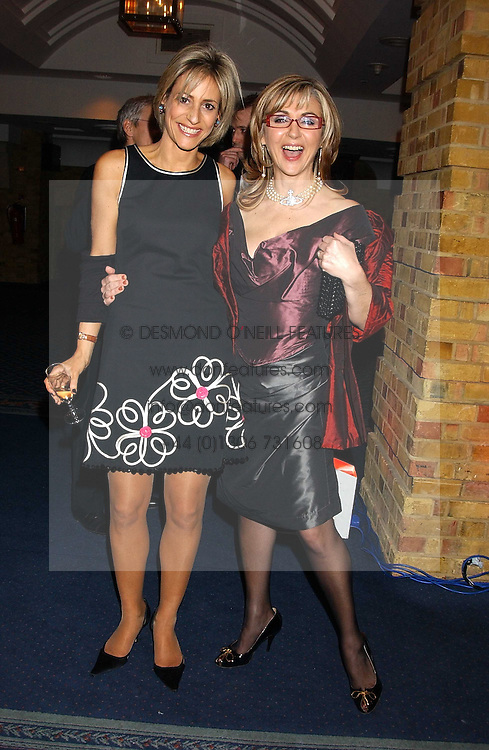 Left to right, news reader EMILY MAITLIS and opera singer LESLEY GARRETT at the 2005 Whitbread Book Awards 2005 held at The Brewery, Chiswell Street, London EC1 on 24th January 2006. The winner of the 2005 Book of the Year was Hilary Spurling for her biography 'Matisse the Master'.<br /> <br /> NON EXCLUSIVE - WORLD RIGHTS