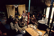 Mongolia. cattle breeders family  inside the yurt in Ih Uul Sum   /  Éleveurs de chèvres a l'intérieur de la yourte  à (à IK Uul Sum  Mongolie)  132     l  /  P0003994