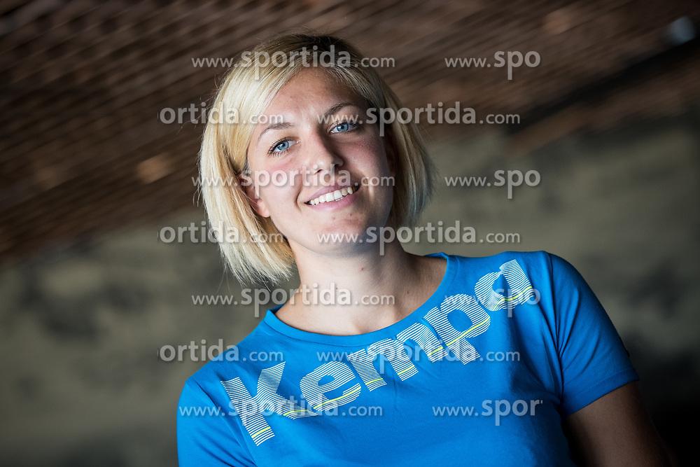 Sanja Gregorc  at press conference of RK Krim before new season 2017/18, on August 16, 2017 in SRC Stozice, Ljubljana, Slovenia. Photo by Matic Klansek Velej / Sportida