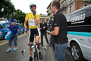 Frank Schleck had a smile on his face after the prologue.