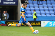 GOAL Simon Whalley equalises from the penalty spot  during the EFL Sky Bet League 1 match between Shrewsbury Town and Rochdale at Greenhous Meadow, Shrewsbury, England on 19 August 2017. Photo by Daniel Youngs.