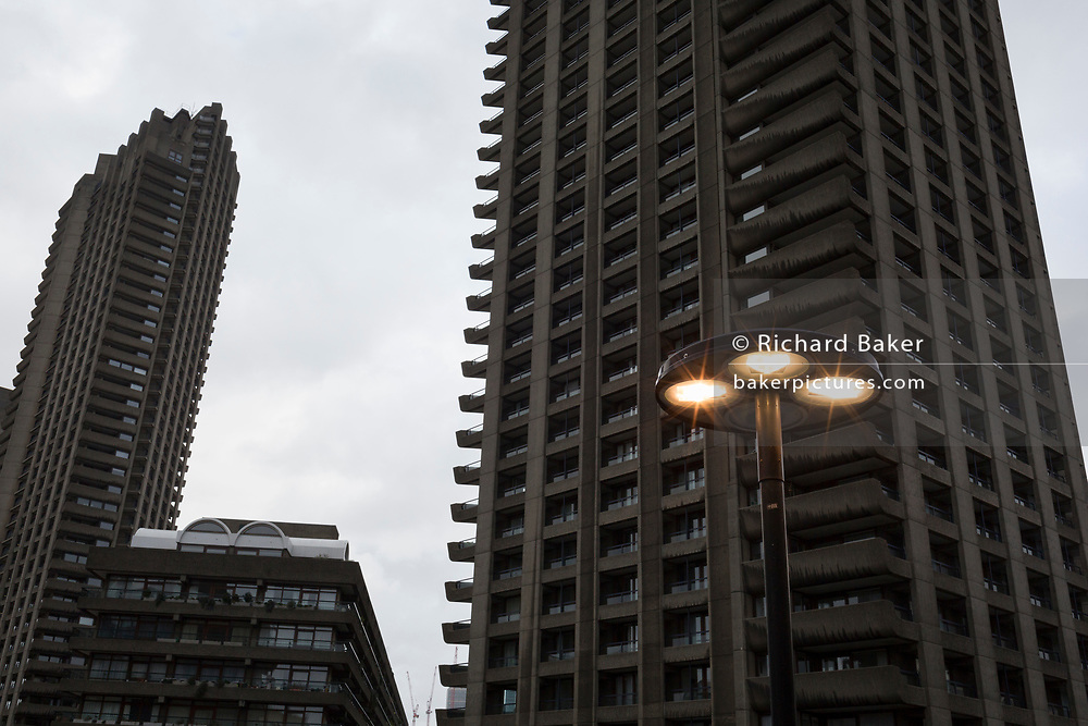 Cromwell Tower, one of the three Barbican high-rises at the Barbican in the City of London, on 27th January 2019, in London, England.