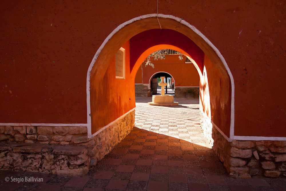 The colonial-era Hacienda Cayara near Potosi, Bolivia is now a hostel and living museum for tourists from around the world.