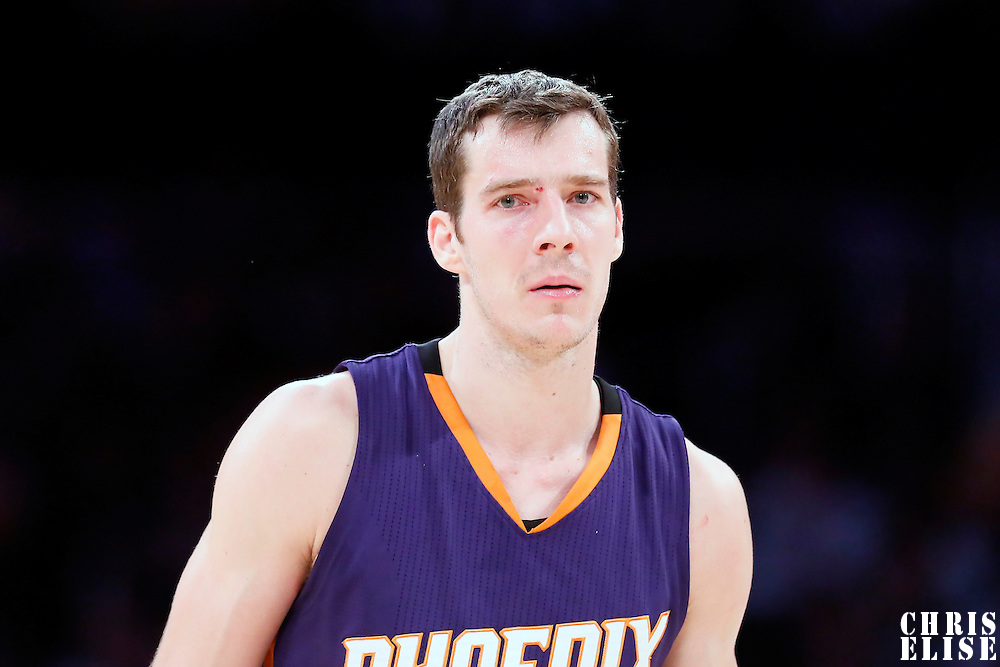 04 November 2014: Phoenix Suns guard Goran Dragic (1) is seen during the Phoenix Suns 112-106 victory over the Los Angeles Lakers, at the Staples Center, Los Angeles, California, USA.
