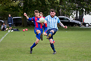 Craigie (blue and white) v Athletic Monifieth (red and blue) in the Dundee Saturday Morning Football League at Fairmuir