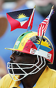 A cricket fan at the Super 8 Cricket World Cup match, West Indies vs New Zealand at the Sir Vivian Richards Cricket Ground in Antigua, West Indies on Thursday 29 March 2007. West Indies were sent in to bat and scored 177. Photo: Andrew Cornaga/PHOTOSPORT<br />