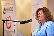 Warsaw, Poland - 2017 March 12: Joanna Styczen National Director of Special Olympics Poland speaks while Nomination Ceremony of Special Olympics Polish National Team before the Special Olympics World Winter Games Austria  2017 at Marriott Hotel on March 12, 2017 in Warsaw, Poland.<br /> <br /> Mandatory credit:<br /> Photo by © Adam Nurkiewicz / Mediasport<br /> <br /> Adam Nurkiewicz declares that he has no rights to the image of people at the photographs of his authorship.<br /> <br /> Picture also available in RAW (NEF) or TIFF format on special request.<br /> <br /> Any editorial, commercial or promotional use requires written permission from the author of image.<br /> <br /> Image can be used in the press when the method of use and the signature does not hurt people on the picture.
