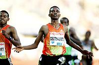 Friidrett , 7. juni 2012 , Foran Bislett Games ,  Diamond League<br /> winner 5000 m , Dejen Gebremeskel , ETH