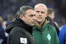 13.12.2011, Arena auf Schalke, Gelsenkirchen, GER, 1.FBL, Schalke 04 vs Werder Bremen, im BildKlaus Allofs (Geschaeftsfuehrer Profifussball Werder Bremen) (L) und Thomas Schaaf (Trainer Werder Bremen) (R) // during the 1.FBL, Schalke 04 vs Werder Bremen on 2011/12/17, Arena auf Schalke, Gelsenkirchen, Germany. EXPA Pictures © 2011, PhotoCredit: EXPA/ nph/ Mueller..***** ATTENTION - OUT OF GER, CRO *****