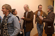 Jamie Stimpson, Honey Luard,  Jake chapman and Johnnie Shand Kidd. Opening of Carl Freidman's Counter Editions, Charlotte Rd. 11 March 2003. © Copyright Photograph by Dafydd Jones 66 Stockwell Park Rd. London SW9 0DA Tel 020 7733 0108 www.dafjones.com