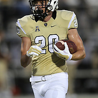 ORLANDO, FL - OCTOBER 09:  Taylor Oldham #20 of the UCF Knights is seen at Bright House Networks Stadium on October 9, 2014 in Orlando, Florida. (Photo by Alex Menendez/Getty Images) *** Local Caption ***Taylor Oldham