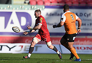 Scarlets John Barclay<br /> <br /> Photographer Mike Jones/Replay Images<br /> <br /> Guinness PRO14 Round 22 - Scarlets v Cheetahs - Saturday 5th May 2018 - Parc Y Scarlets - Llanelli<br /> <br /> World Copyright &copy; Replay Images . All rights reserved. info@replayimages.co.uk - http://replayimages.co.uk