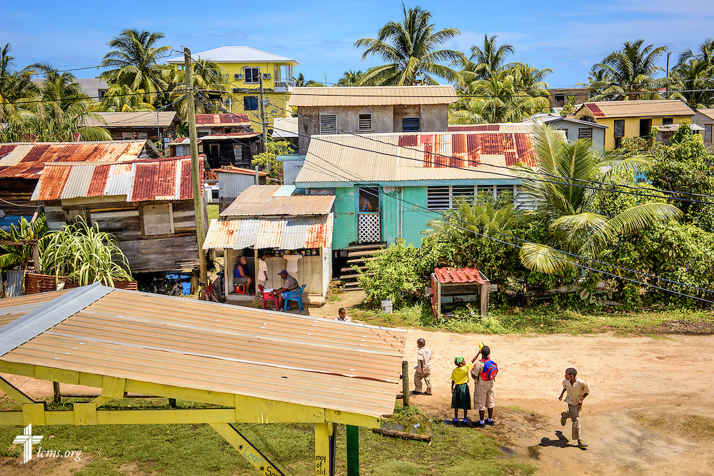 A view overlooking the village of Seine Bight, seen from the St. Alphonsus school on Tuesday, Sept. 27, 2016, in Belize. LCMS Communications/Erik M. Lunsford