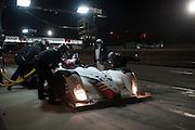 Alex Popow, Ryan Dalziel and Mark Wilkins, CORE Autosport (PC) Chevrolet Oreca FLM09 pitstop, Petit Le Mans. Oct 18-20, 2012. © Jamey Price\