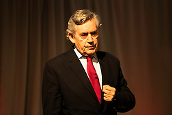 Former Prime Minister, Gordon Brown, states the recent Growth Commission report which recognises Independence would require deep cuts, means the blueprint makes the SNP Tory Blue. He continues to state that this leaves Labour as the only party supporting social justice. The comments were made as he addresses the Futures of Scotland conference at Dynamic Earth in Edinburgh. The event is organised by the Scottish Fabian Society.<br /> <br /> Pictured: Gordon Brown