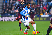 Jason Puncheon of Huddersfield Town (42) in action during the Premier League match between Huddersfield Town and Arsenal at the John Smiths Stadium, Huddersfield, England on 9 February 2019.