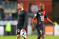 Deception Sylvain ARMAND / Gelson FERNANDES  - 25.01.2015 - Rennes / Caen  - 22eme journee de Ligue1<br /> Photo : Vincent Michel / Icon Sport *** Local Caption ***