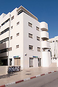 Israel, Tel Aviv, Renovated Bauhaus building at 3 Nachmani Street UNESCO has declared Tel Aviv an international heritage site because of the abundance of the Bauhaus architectural style