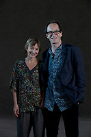 A portrait of Nicci Gerrars & Sean Frenc at the Edinburgh International Book Festival 2012 in Charlotte Square Gardens<br /> <br /> Pic by Pako Mera