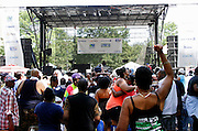 Atmosphere inside the 10th Annual Liberty State Park Music Festival in Newark, New Jersey on July 25, 2015.