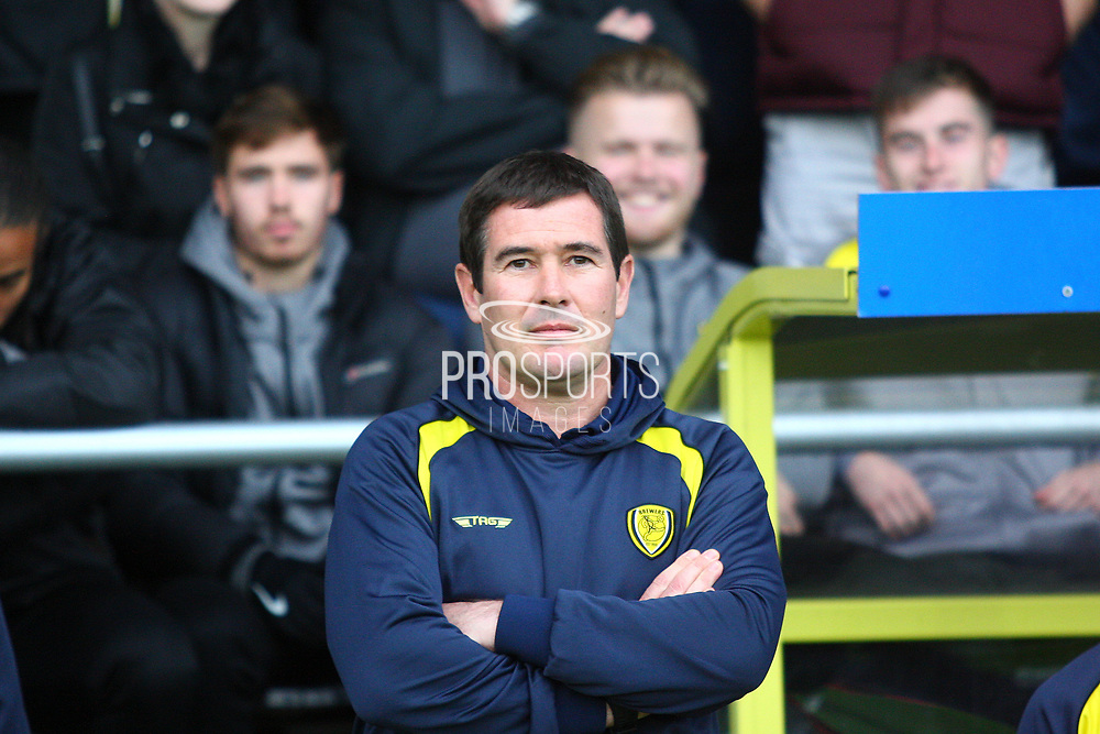Burton Albion's manager Nigel Clough during the EFL Sky Bet Championship match between Burton Albion and Ipswich Town at the Pirelli Stadium, Burton upon Trent, England on 28 October 2017. Photo by John Potts.