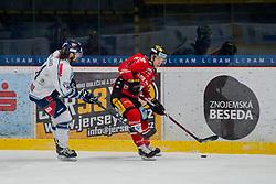 23.02.2018, Ice Rink, Znojmo, CZE, EBEL, HC Orli Znojmo vs Fehervar AV 19, Qualifikationsrunde, im Bild v.l. Eric Wayne Meland ( Fehervar AV19) Eric Nemec (HC Orli Znojmo) // during the Erste Bank Icehockey League qualification round match between HC Orli Znojmo and Fehervar AV 19 at the Ice Rink in Znojmo, Czech Republic on 2018/02/23. EXPA Pictures © 2018, PhotoCredit: EXPA/ Rostislav Pfeffer