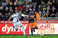 FOOTBALL - FRENCH CHAMPIONSHIP 2011/2012 - L1 - MONTPELLIER HSC v TOULOUSE FC  - 17/12/2011 - PHOTO SYLVAIN THOMAS / DPPI - HENRI BEDIMO (MON) / DANIEL BRAATEN (TFC)