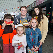 14.06.2018.             <br /> Limerick Food Group hosted the Urban Food Fest street food evening in the Milk Market on Thursday June 14th with a 'Summer Fiesta' theme in one big Limerick city summer party.<br /> <br /> Pictured at the event were, Zak, Molly, Ray, Charleigh and Edele McInerney. Picture: Alan Place