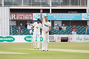 WICKET - Will Davis traps Chris Rushworth LBW during the Specsavers County Champ Div 2 match between Leicestershire County Cricket Club and Durham County Cricket Club at the Fischer County Ground, Grace Road, Leicester, United Kingdom on 7 July 2019.